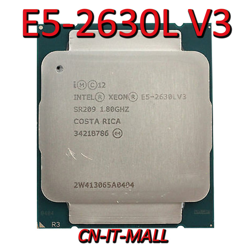 Pulled <font><b>Xeon</b></font> <font><b>E5</b></font>-<font><b>2630L</b></font> V3 Server cpu 1.8G 20M 8Core 16 Thread LGA2011-3 Processor image