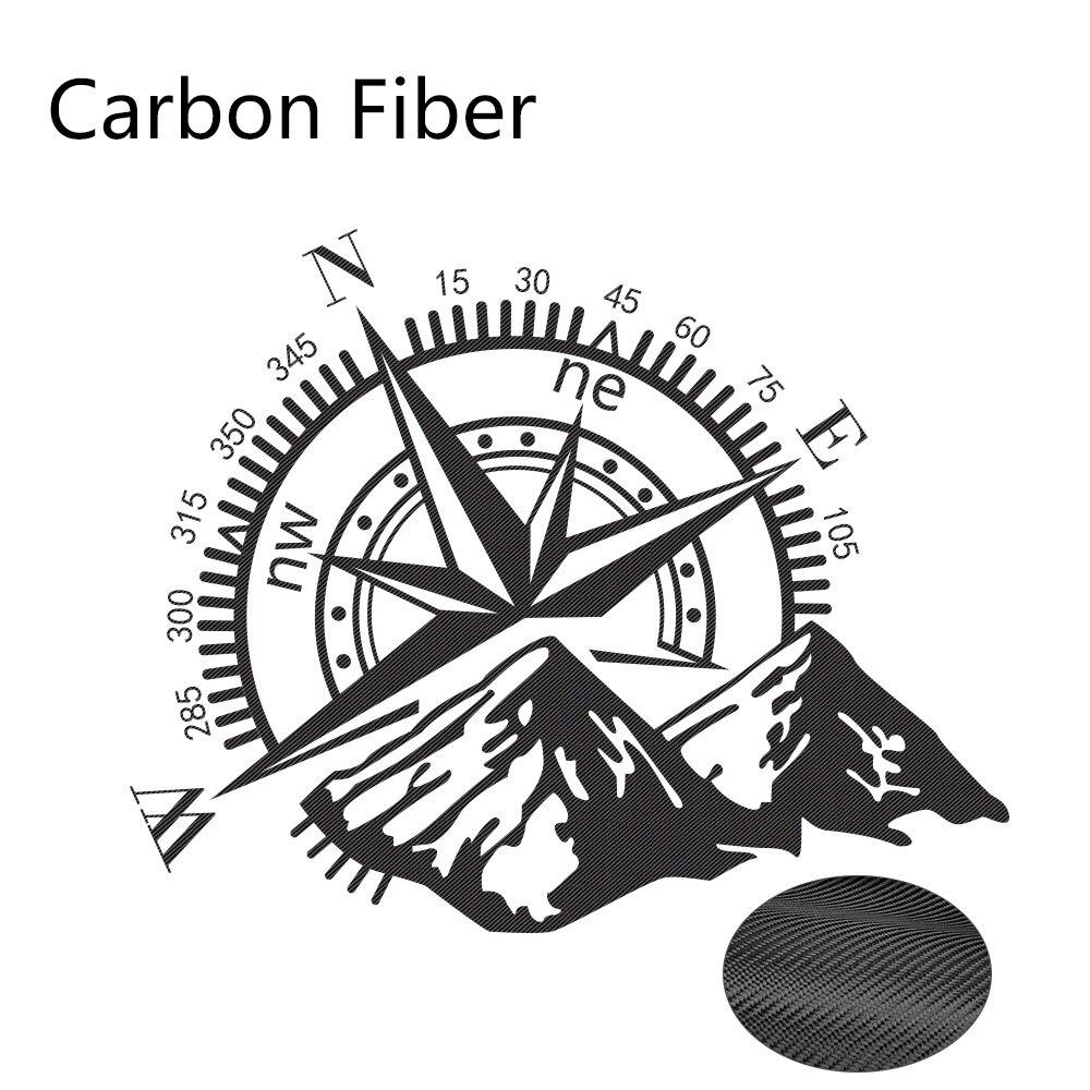 Боковые наклейки для автомобильной двери, виниловая пленка, авто украшение, наклейка для водонепроницаемого внедорожника, Ford Chevy, Стайлинг, автомобильные тюнинговые аксессуары - Название цвета: Carbon Fiber