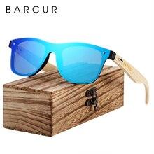 Мужские/женские очки от солнца BARCUR, темные очки без оправы, из дерева черного ореха, аксессуары