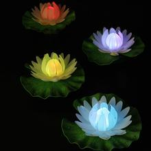 Lily-Light Floating-Lotus Party-Decor Artificial-Flower Garden No Pool Wishing-Lamp Fish-Tank