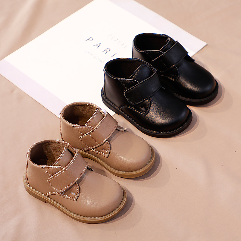 Infant First Walkers OutdoorToddler Snow Booties Baby Casual Shoes Genuine Leather Pure Color Boots Flat  Size16-19 SX258