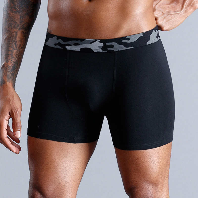 SKARR Man Boxer Underwear Cotton Boxershort Sexy Boxershorts Men Underpants Mens Underwear Boxers Underware Gay Seamless Funny