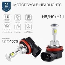 2pcs H8/H9/H11 LED Motorcycle Headlight 12V Bulb For Honda CB 600 F Hornet 1998-2015 Suzuki GSX-R 1000 2001-2016