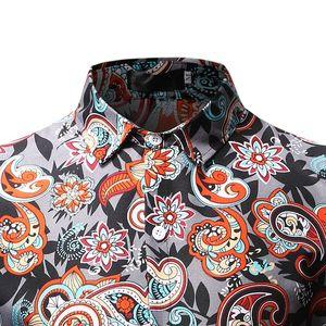 Image 4 - Camisa de Cachemira para Hombre, diseño de marca, Camisas de vestir ajustadas con estilo, camisa de manga larga para Hombre, Camisas sociales informales para fiesta