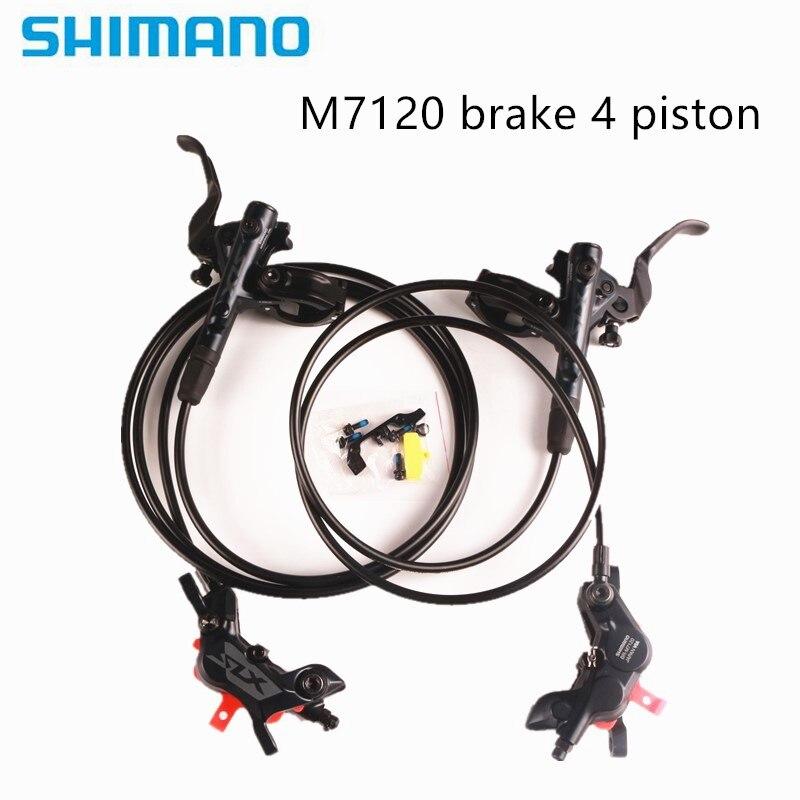 SHIMANO DEORE SLX M7120 4 piston M7100 Brake Mountain Bike Hydraulic Disc Brake MTB  with g03s j04c  j03a d03a n03a n04c pads Велосипедный тормоз      АлиЭкспресс