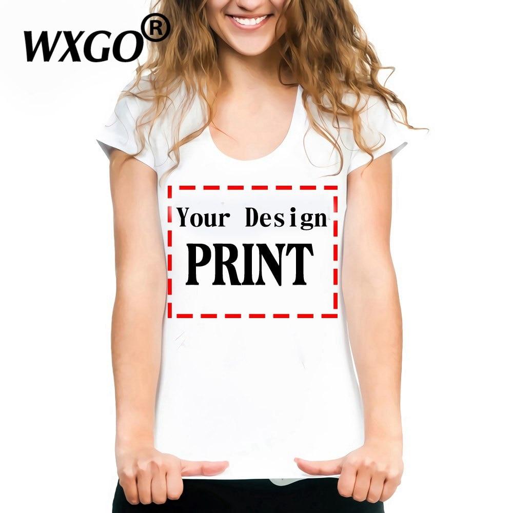 Personal Custom Women Tops Tee Summer Short Sleeved Tshirts Tumblr Vintage Graphic T Shirt Drop Ship