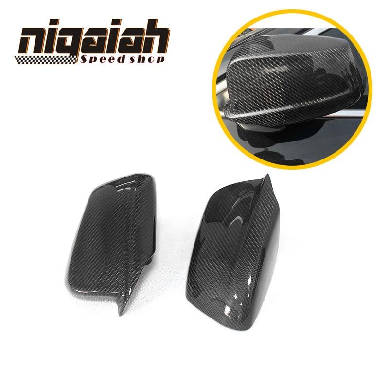 F10 fibre de carbone remplacer voiture Tuning côté aile rétroviseur garniture pour BMW 2010-2013 520i 528i 535i 518d carbone rétroviseur