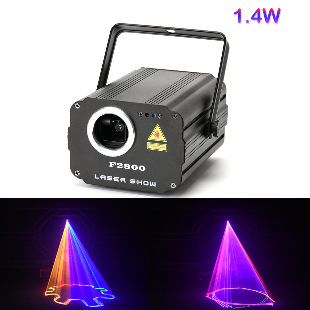 1400mW DMX 512 Scanner Laser Light RGB Colorful Party Xmas DJ Disco Laser Lights