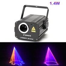 1400mW DMX 512 skaner laserowy światła RGB kolorowe Party Xmas DJ Disco światła laserowe