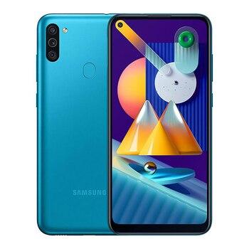 Перейти на Алиэкспресс и купить Samsung Galaxy M11 3 Гб/32 ГБ синий с двумя SIM-картами M115