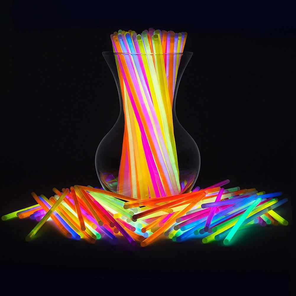 50Pcs Multifunction Colorful Luminous Party Fluorescence Light Glow Sticks Bracelets Necklaces Neon For Party Wedding Props