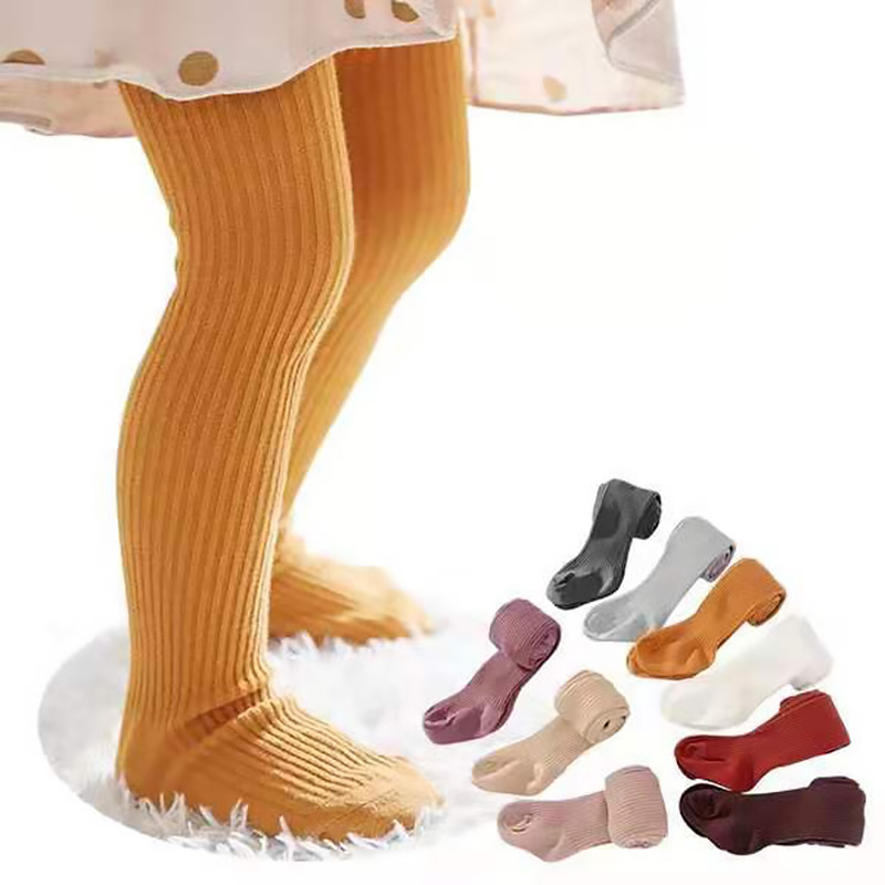От 0 до 6 лет колготки для малышей; однотонные хлопковые детские колготки; сезон весна-осень; детские штаны; колготки в Вертикальную Полоску д...