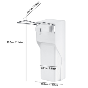 Image 5 - 1000ml Elbow Disinfection Dispenser Wall Mounted Soap Dispenser Spray Hand Sterilizer Manual Type Medical Device