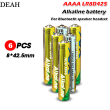 6 sztuk/partia 1.5V LR8D425 AAAA baterie alkaliczne podstawowe baterie do zestawu słuchawkowego Bluetooth laser pen touch pen suche baterie