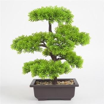 Simulation Plant Bonsai Indoor Outdoor Pin Tree Flowers Pot Home Creative Decor