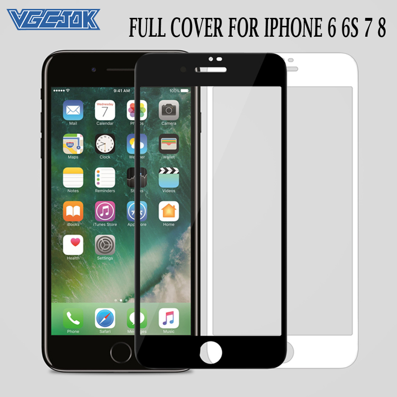 15D Curved Edge Full Cover Tempered Glass On The For IPhone 7 8 6 6S Screen Protective Glass For IPhone7 Iphone8 Iphone6 6S Plus