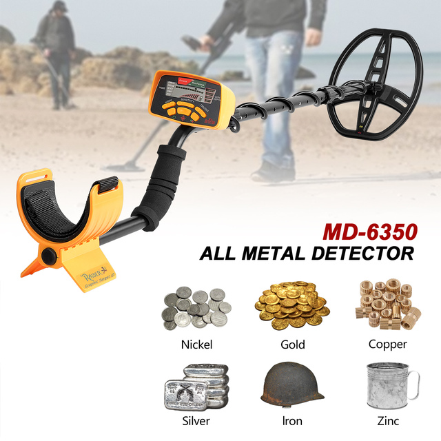 Underground Metal Detector Professional MD6350 Gold Digger Treasure Hunter MD6250 Updated MD-6350 Pinpointer LCD Display 3