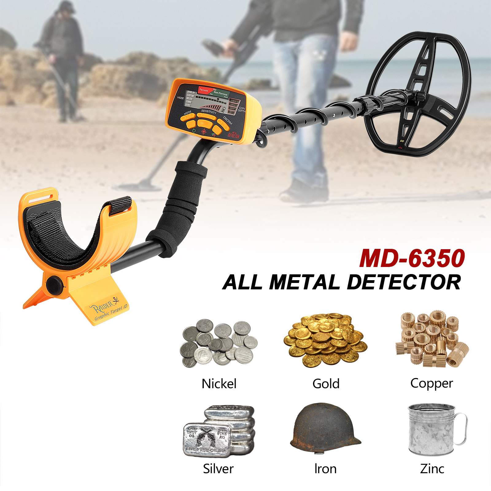 Image 4 - Underground Metal Detector Professional MD6350 Gold Digger Treasure Hunter MD6250 Updated MD 6350 Pinpointer LCD Display-in Industrial Metal Detectors from Tools