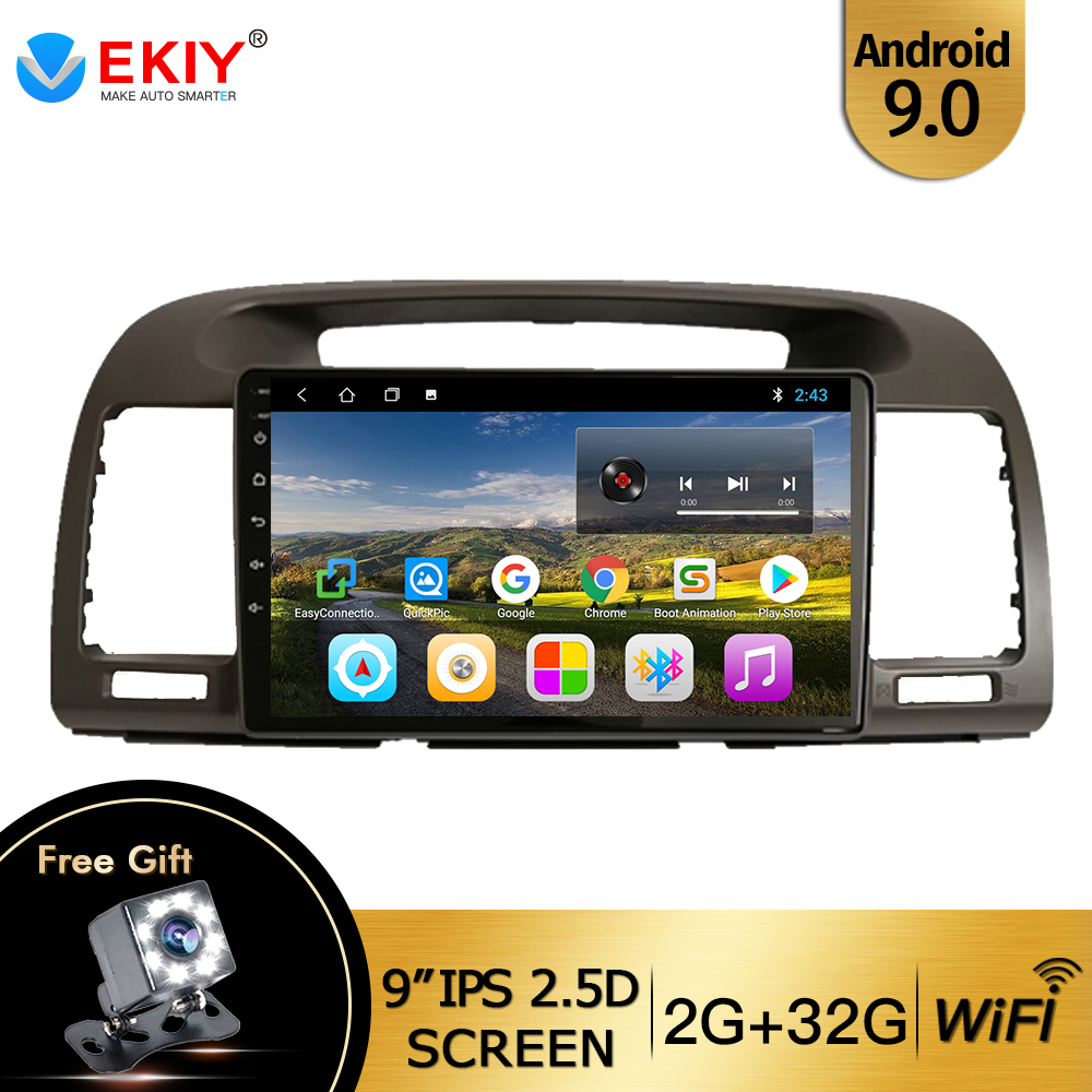 EKIY 9'' IPS Android 9.<font><b>0</b></font> Car Radio Multimedia Video Player For Toyota Camry <font><b>5</b></font> XV 30 2001-2006 Navigation GPS No 2din Wifi BT <font><b>USB</b></font> image