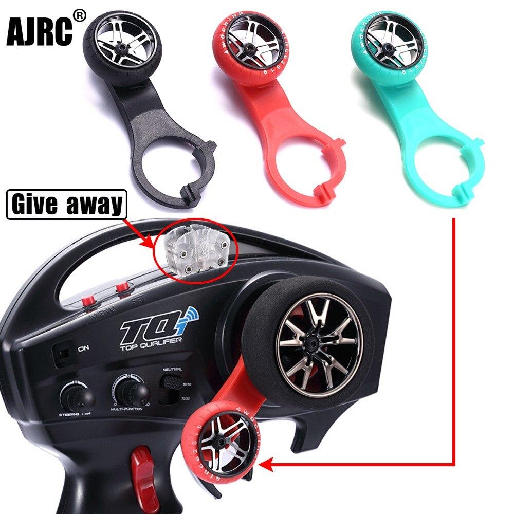AJRC TQI One-Hand Steering Wheel Controller for 1/10 Rc Tracked Vehicle Traxxas SUMMIT X-MAXX E-REOV Trx4 BRONCO Trx-6 Tactics