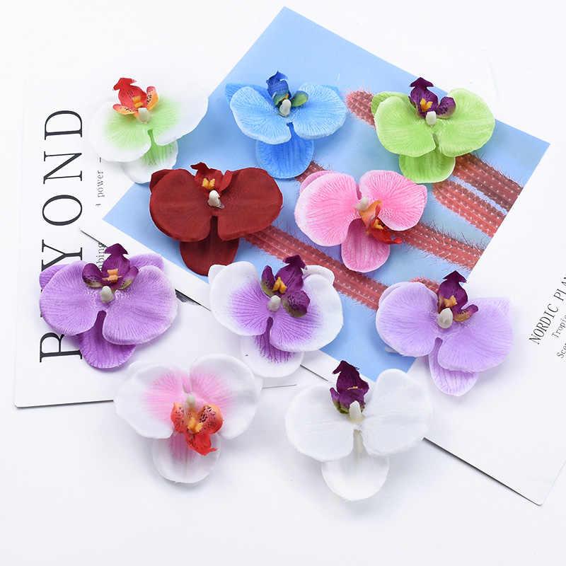 5 Miếng Giả Hoa Bướm Phong Lan Thêu Sò Nhà Trang Trí Phụ Kiện DIY Candy Hộp Thổ Cẩm Bình Hoa Trang Trí Cho Cô Dâu