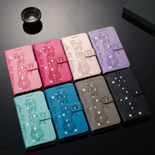 Luxury Leather Filp Rhinestone Case For iPhone 8 7 6 6s Plus XS X XR Max Phone Cover 2019 5.8 6.1 6.5 Wallet Coque