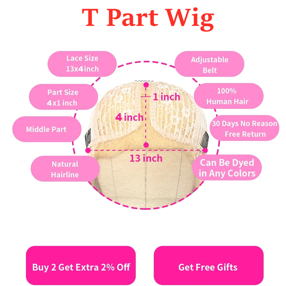 613 Lace Frontal Wig Honey Blonde Lace Front Wigs   Wigs T Part Lace Bone Straight  Wig 6