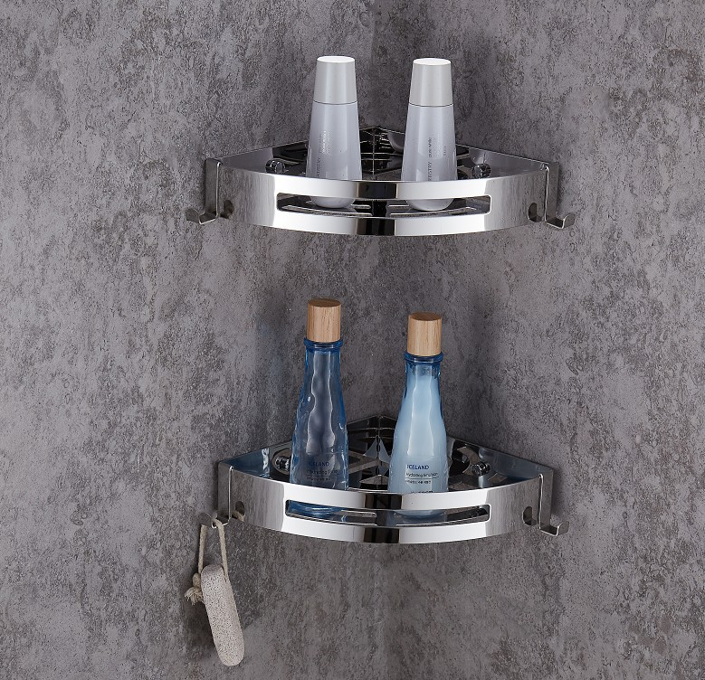 Meal Ding 304 Stainless Steel Triangular Blue Storage Shelf Toilet A Generation Of Fat 8324 Hole Punched Selectable