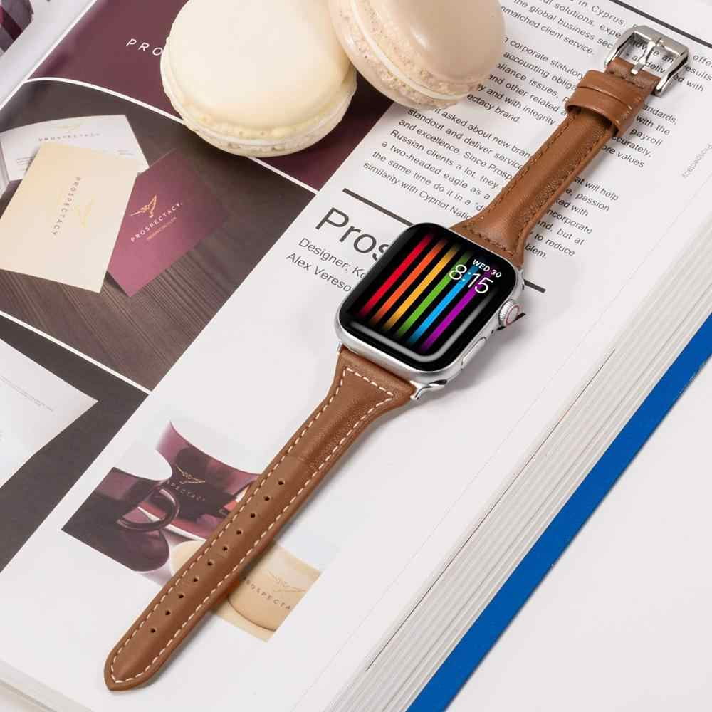 Slim Fit frauen strap Für Apple Uhr serie 1/2/3 Für Apple Uhr Band 42mm 38mm Armband Armband für iwatch 4 5 40mm 44mm