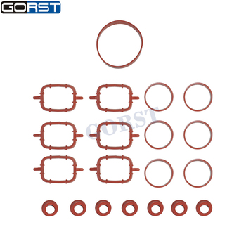 Intake Manifold Rubber Gasket Set 11612246945 For Bmw E36 E60 E61 E90 E91 X5 450140H 50-029153-00 Car Parts image