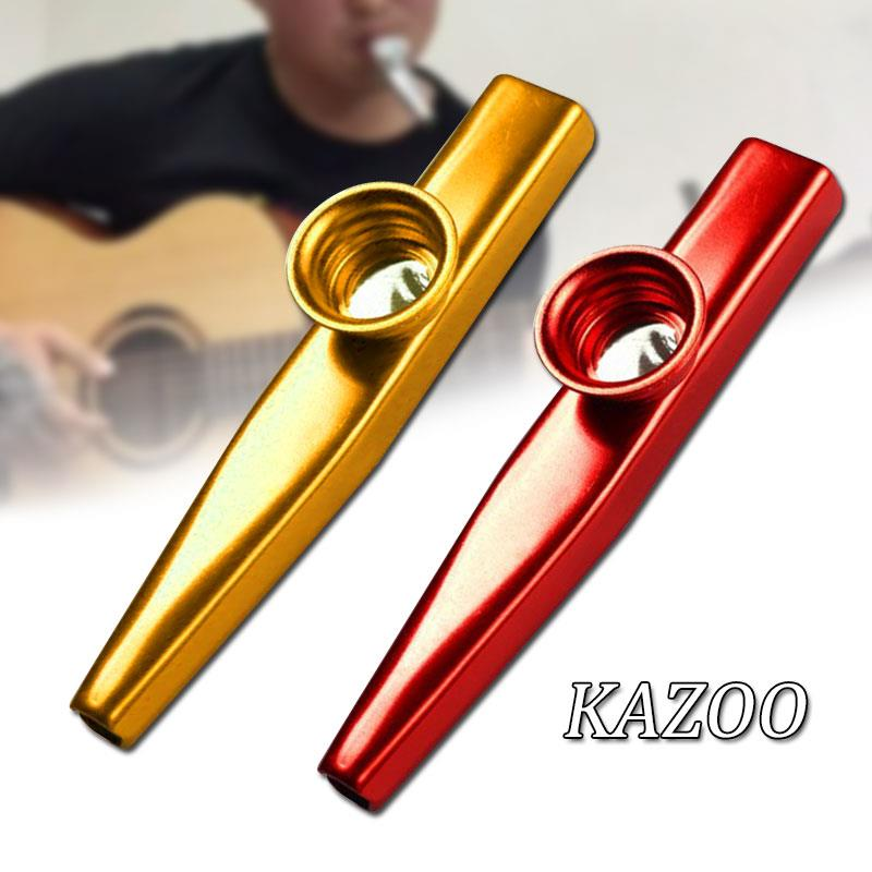 Kazoo Gift Teaching Toy Starter Guitar Instrume Flute Simple Convenient Aluminum Learner Adult Alloy image