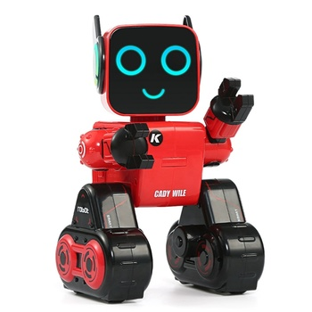R4 Cady Wile RC Robot 2.4G Intelligent Remote Control Smart Robot Sound Interaction Gesture Sensor Control Coin Bank Gift Toy original jjrc r2 r11 rc robot singing dancing cady wida intelligent gesture control robots toy action figure for children toys