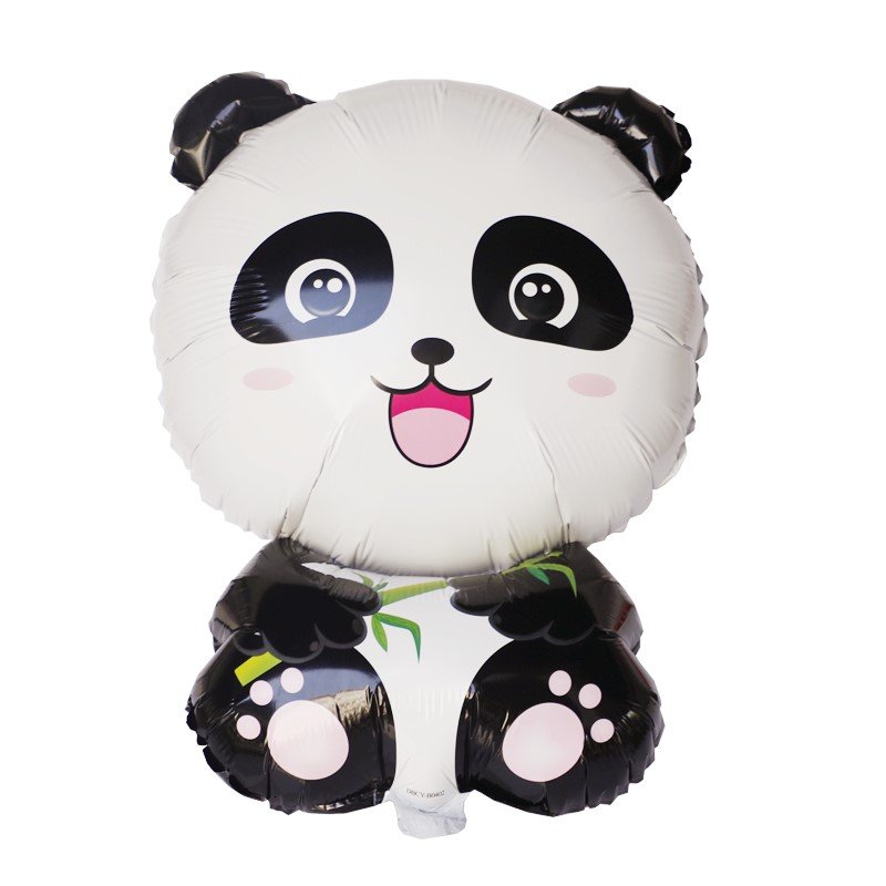 1pc Cartoon Panda Balloons Birthday Party Animal Theme Decoration Children's Party Inflatable Toys