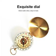 Compass Pocket-Watch Retro Vintage Hiking Outdoor with Cover Luminous-Measuring-Tool