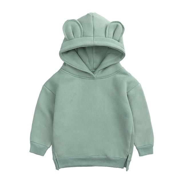 Baby Boys Girls Hoodies Cotton Hooded Sweatshirt Children Fashion Clothes Kids 2021 Infant Cartoon Clothing Pink Gray winter 6