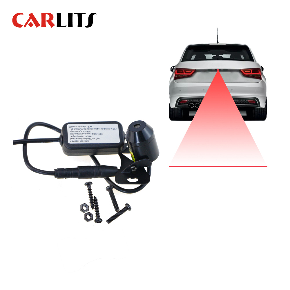 CARLITS 1х прямая линия анти столкновения автомобиля лазерный задний противотуманный светильник Авто парковочный фонарь заднего хода светиль...