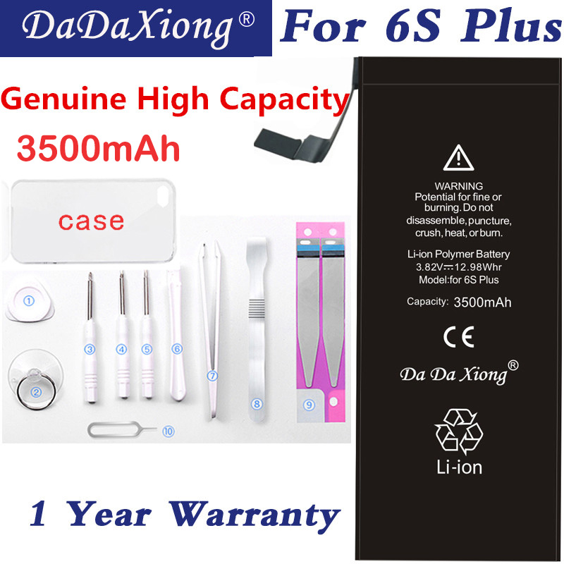Original Da Da Xiong <font><b>Battery</b></font> For <font><b>iPhone</b></font> <font><b>6S</b></font> Plus 6SPlus Li-ion Replacement <font><b>Batteries</b></font> 3500mAh <font><b>High</b></font> <font><b>Capacity</b></font> Retail Package image