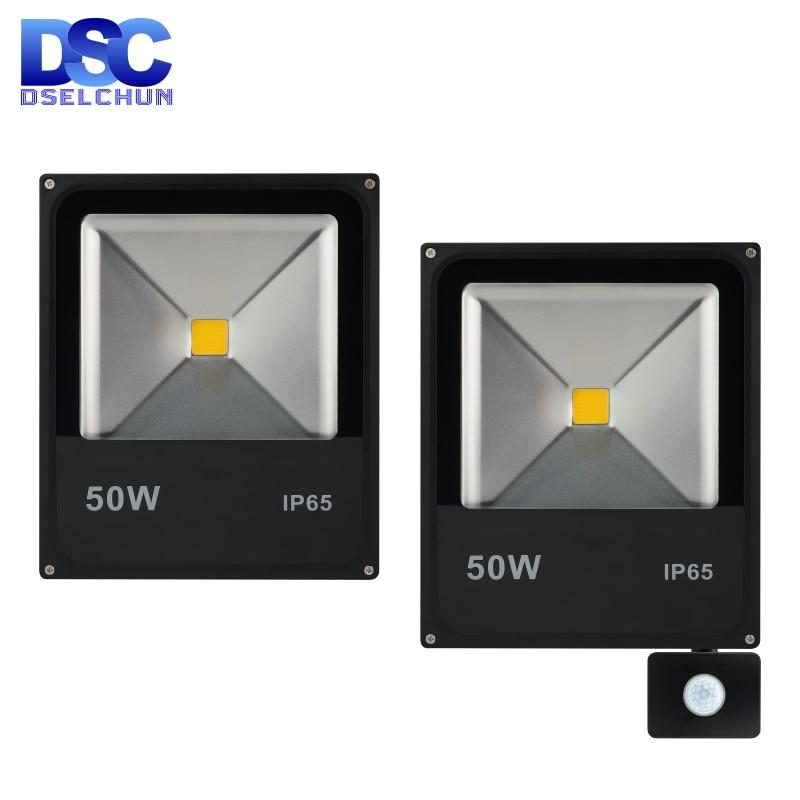 Led Pir Motion Sensor Flood Light 10W 20W 30W 50W Outdoor Spotlight Floodlight 220V Wall Washer Lamp Reflector IP65 Waterproof
