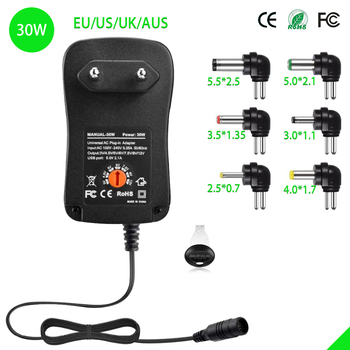 30W Universal Adaptor Charger 3V 4.5V 5V 6V 7.5V 9V 12V 2A 2.5A AC/DC Adapter Adjustable Power Supply adapter