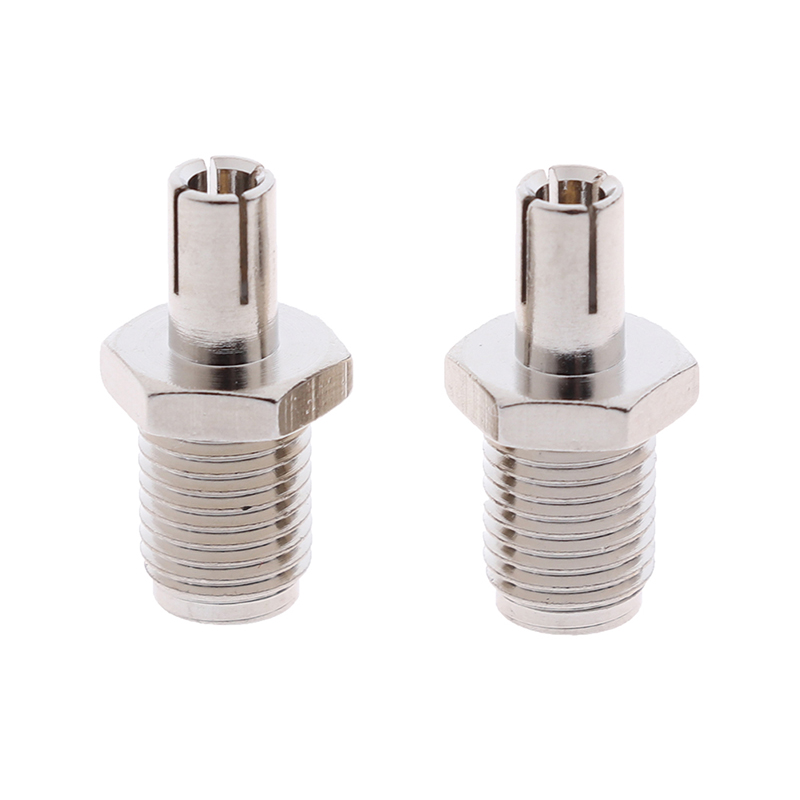 2pcs RF Coaxial Adapter SMA To TS9 Coax Jack Connector SMA Female Jack To TS9 Male Plug Silver
