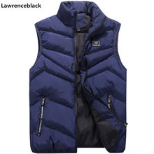 New vest men Brand Mens Jacket Sleeveless Vests Winter Jackets men Casual Coats Men's Vest Man Cotton Thicken Waistcoat 8XL 6549(China)