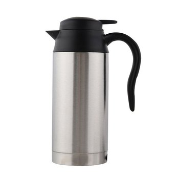 Stainless Steel Thermos Heating Cup 12V/24V Car Auto Adapter Heated Kettle Travel Mug Auto Accessories For Travel Camping car based heating stainless steel cup kettle travel trip coffee tea heated mug motor hot water for car or truck use 750ml 12v