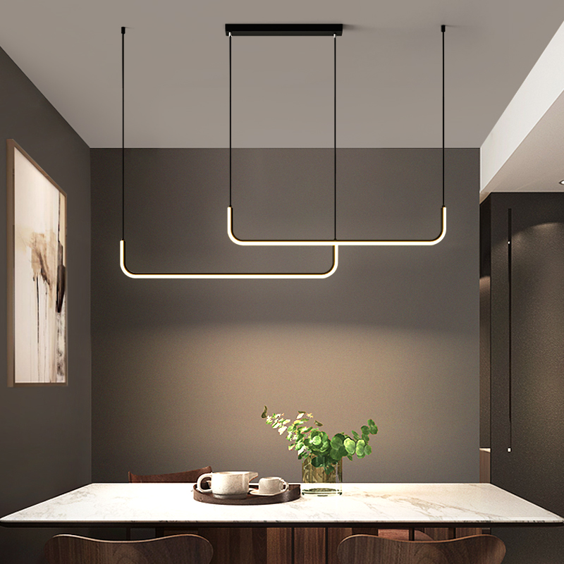 Led pingente lâmpada para cozinha escritório lustre moderno e minimalista preto iluminação da sala de jantar mesa decoração para casa luminária