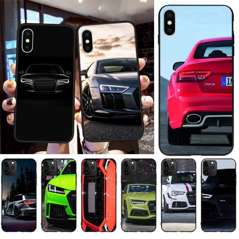 Audi RS Xe Thể Thao Silicone Mềm Điện Thoại TPU Cho iPhone 11 Pro XS MAX 8 7 6 6S plus X 5 5S SE 2020 XR Case