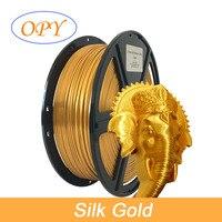 Di seta Pla Filamento Top di Rame Bronze Raso Oro Argento Rosso Blu Rosa di Colore Giallo Materiale 1.75 Millimetri di Plastica 3D Stampa 1.75 filo