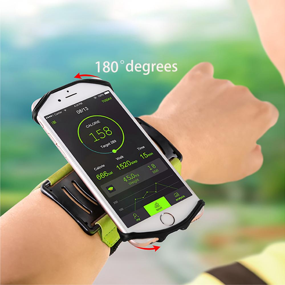 Rotatable Running Bags Men Women Armbands Touch Screen Cell Phone Arms Band Phone Case Sport Accessories Adjustable Elastic Band