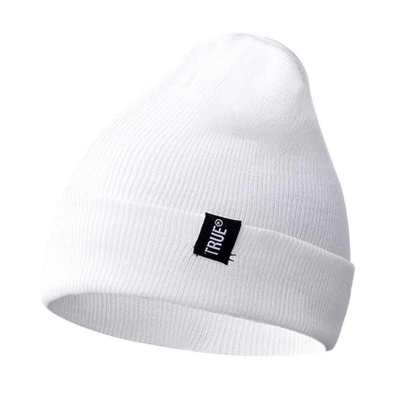 Fashion Unisex Musim Gugur dan Musim Dingin Topi Rajut Hangat Anyaman Standar Topi Ski Set Topi Wol-Salah Satu Top 2019 Baru fashion