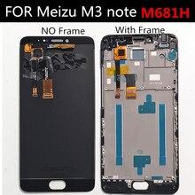 สำหรับMeizu M3หมายเหตุM681H M681M M681QจอแสดงผลLCD + หน้าจอสัมผัส + เครื่องมือDigitizer Assembly Replacementสำหรับโทรศัพท์Meilan note3 LCD