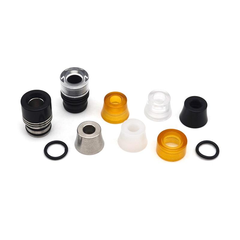 Electronic Cigarette Replacement Mtl Drip Tip 510 Set  - Black/Silver/ Translucent/Brown Vape Mounthpiece