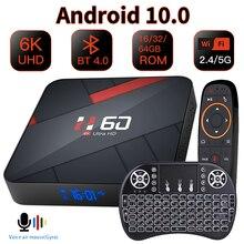 HONGTOP Android 10,0 ТВ коробка 4 Гб 64 Гб 6K голосовой помощник 1080P видео ТВ приемник Wi-Fi 2,4G & 5G Bluetooth Smart ТВ коробка Декодер каналов кабельного телевидени...